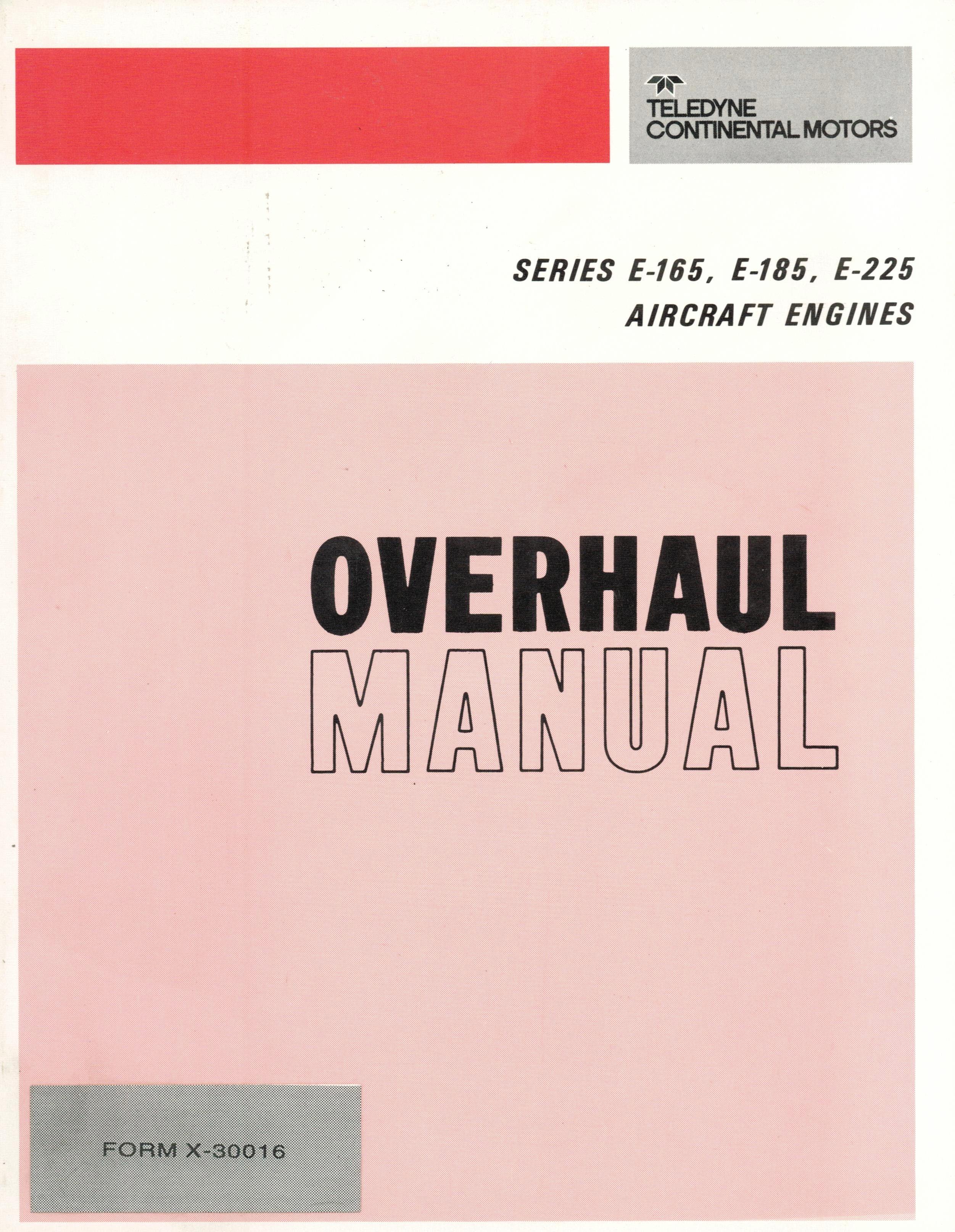 continental o 200 parts manual